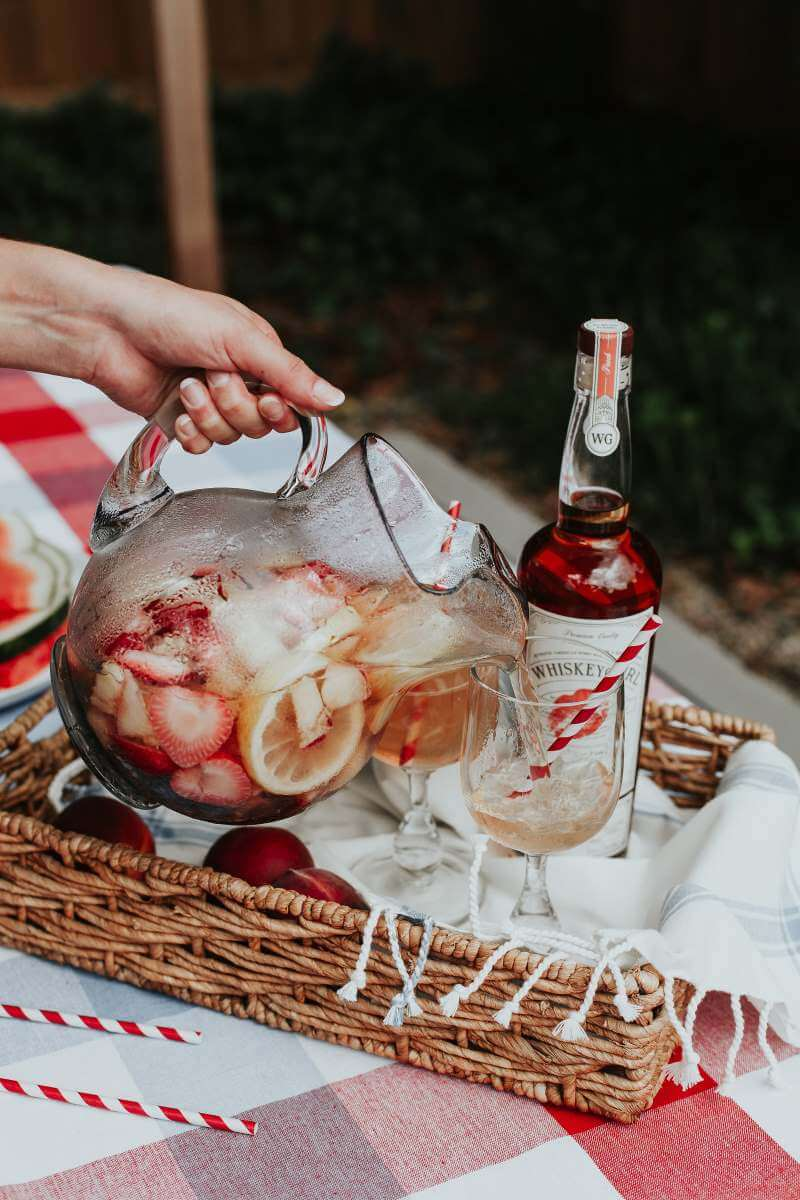 4th of July Cocktail Ideas - Refreshing Red, White and Blue Sangria