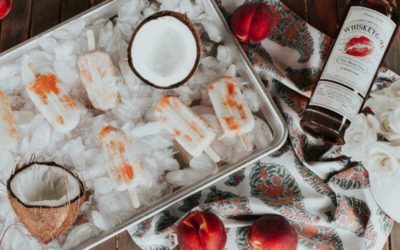 Boozy Peach and (Coconut) Cream Popsicles
