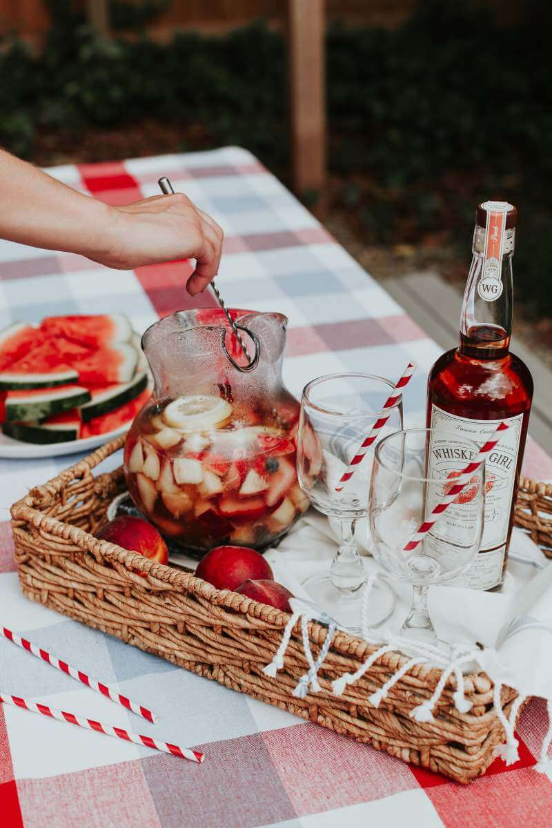 Patriotic Sangria Recipe from Whiskey Girl, made in South Carolina