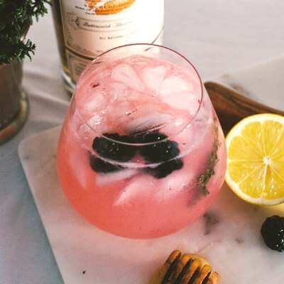 Spiked Blackberry Lemonade