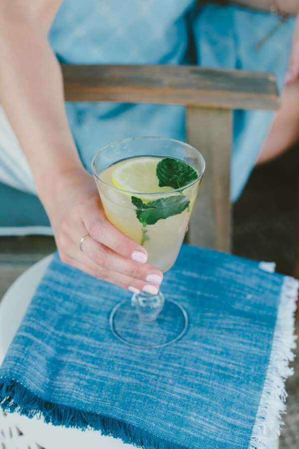 Spiked Peach Lemonade with Whiskey Girl