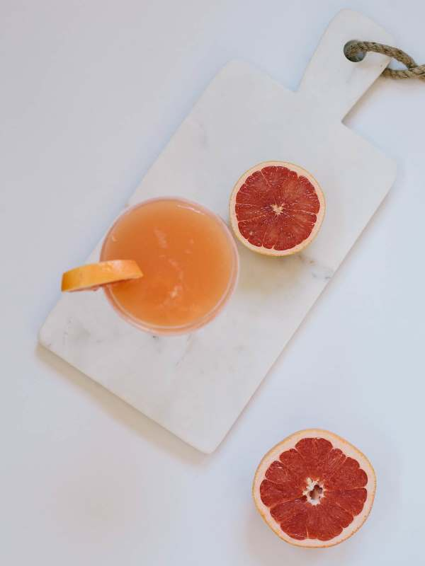 Whiskey Cocktail with Grapefruit and Rose